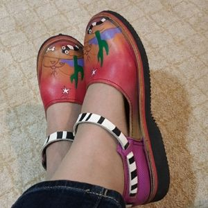 Soletech hand made handpainted shoes